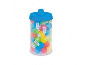 Děrovaný míček pro kočku - mix barev - 1 ks