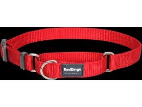 Red Dingo Polostahovací nylonový obojek červený, 25 mm x 41-62 cm