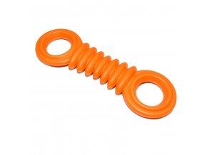 Gumová hračka pro psy Argi - typ 2 - oranžová - 17 x 5 cm