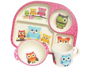 Dětský jídelní set Owls