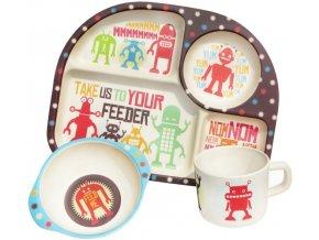 Dětský jídelní set Robots