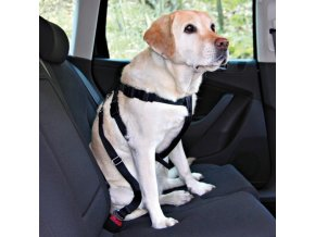 Trixie Postroj do auta pro psy černý - velikost XL, 80-110 cm
