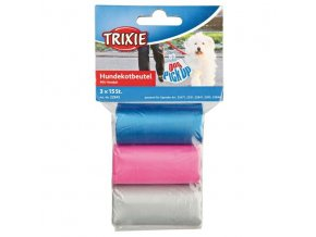 Trixie náhradní barevné sáčky na trus s ušima 3 role á 15 ks