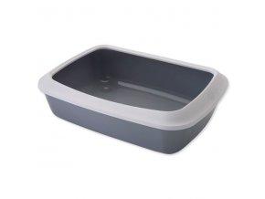 Toaleta SAVIC Isis + okraj šedá