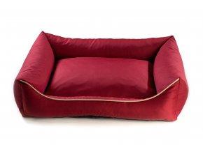 Pelech pro psa Argi obdélníkový - snímatelný potah z polyesteru - červený - 100 x 80 cm