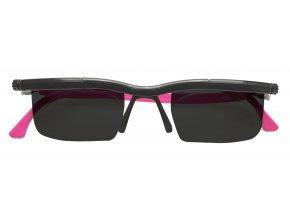 Nastavitelné dioptrické sluneční brýle Adlens, růžové - KP203R
