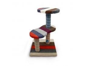 Škrabadlo pro kočky Argi - Emma - mix barev - 55 x 35 x 35 cm