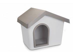 IMAC Bouda pro psa plastová - šedá - D 72,2 x Š 61,8 x V 62,3 cm