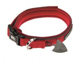 imac nylonovy nastavitelny obojek pro psa cerveny obvod krku 23 29 tloustka 1 3 cm