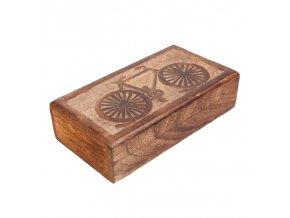 krabicka drevena kolo