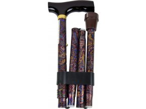 Vycházková skládací hůl s komfortní rukojetí, oriental gold - KP022