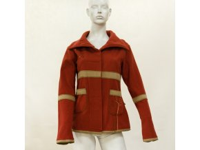 kabát oranž