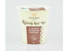 Natural Jihlava Rýžový kus-kus s jemnou houbovou omáčkou bez lepku, mléka a vajec 85g