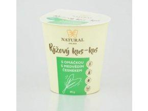 Natural Jihlava Rýžový kus-kus s omáčkou s medvědím česnekem bez lepku, mléka a vajec 85g