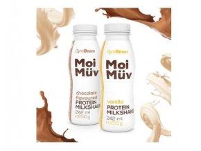 GymBeam MoiMüv Protein Milkshake 242ml - čokoláda