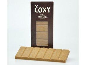 Natural Jihlava ČOXY - bílá čokoláda s kávou a xylitolem 50g