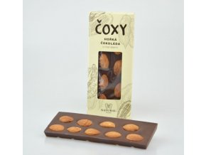 Natural Jihlava ČOXY - hořká čokoláda s mandlemi a xylitolem 50g