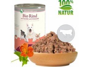 Konzerva pro psy - Hovězí s mrkví a amarantem (Bio) 400 g