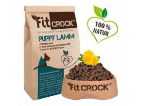 Fit-Crock pro štěňata Jehněčí - granule lisované za studena