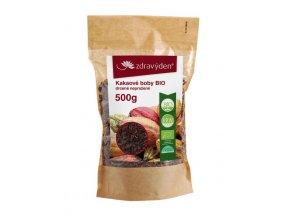 18606 1 kakaove boby bio drcene neprazene 500g