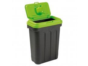 Maelson Box na granule pro 15 kg krmiva - černo-zelený - 41 x 25 x 56 cm