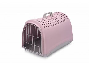 IMAC Přepravka pro psa a kočku plastová - růžová - D 50 x Š 32 x V 34,5 cm