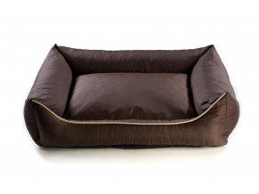 Pelech pro psa Argi obdélníkový - snímatelný potah z polyesteru - tmavě hnědý - 100 x 80 cm