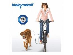 Držák na kolo pro psy s pružinou