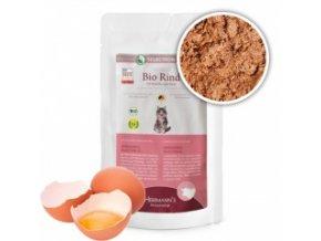 Kapsička pro kočky - Hovězí maso s mrkví a jáhly - Bio - 100 g