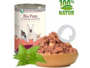 Konzerva pro psy - Krůtí maso s bramborem (Bio) 400 g