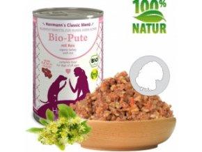 Konzerva pro psy - Krůtí maso s rýží (Bio) 400 g