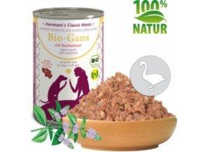 Konzerva pro psy - Husí maso s pohankou (Bio) 400 g