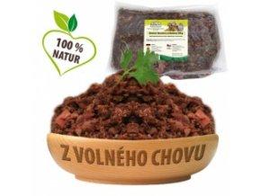 Hovězí maso s lososem a zeleninou – KOMPLET 500 g