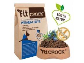 Fit-Crock Premium Kachní - granule lisované za studena