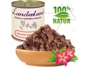 Konzerva pro psy a kočky - Hovězí prorostlé - Lunderland