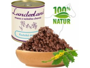 Konzerva pro psy a kočky - Koňské maso - Lunderland
