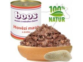 Konzerva pro psy - Hovězí maso a dršťky - BOOS