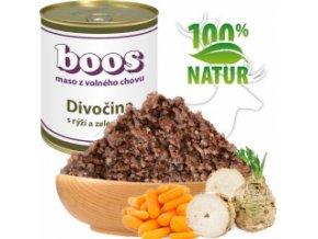 Konzerva pro psy - Divočina s rýží a zeleninou - BOOS