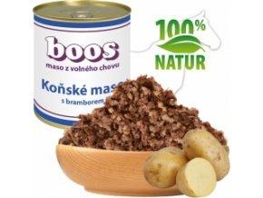 Konzerva pro psy - Koňské maso s bramborem - BOOS