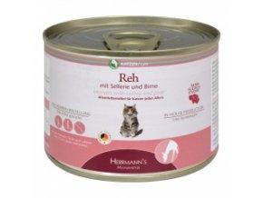 Konzerva pro kočky - Srnčí s celerem a hruškou - 200 g