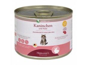Konzerva pro kočky - Králičí maso se sýrem - 200 g