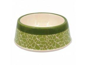 Keramická miska pro psy - Žirafa, zelená - 21 cm / 700 ml