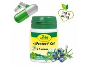 Odčervovací byliny pro kočky - kapsle - cdVet