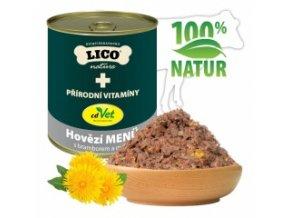 Konzerva pro psy - Hovězí s bramborem a mrkví - Lico