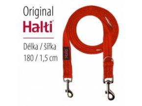HALTI vodítko Červené - ultralehké přepínací - 180 cm / 15 mm