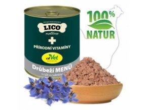 Konzerva pro psy - Drůbeží s rýží a cuketou - Lico