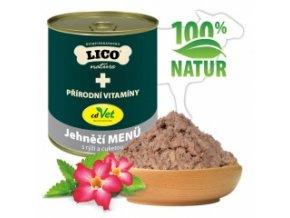 Konzerva pro psy - Jehněčí s rýží a cuketou - Lico