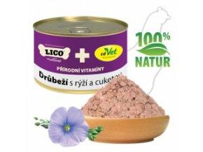 Konzerva pro kočky - Drůbeží s rýží a cuketou - Lico