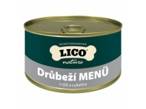Konzerva pro psy - Drůbeží s rýží a cuketou - Lico - 400 g