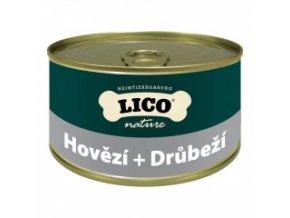 Konzerva pro psy - Hovězí, drůbeží - Lico - 400 g
